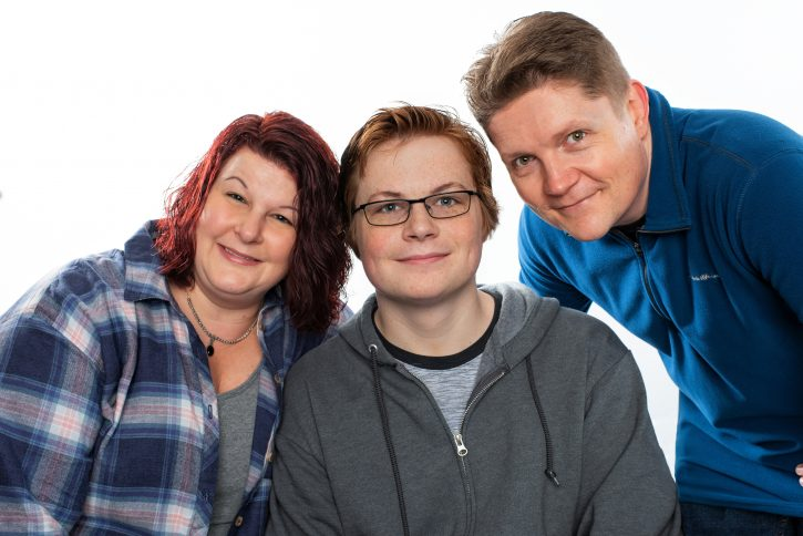 Stroke patient Elijah and family