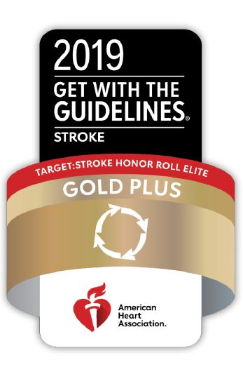 American Heart Association - 2019 Get with the Guidelines Stroke Gold Plus - Stroke Honor Roll Elite