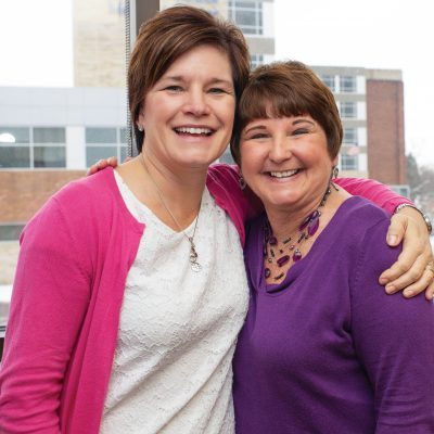 FMC Cancer patient Patti Hayes and Shelly Romine