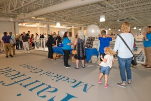 people attending the river valley campus open house