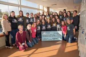 Fairfield Union Girls Volleyball Team Donates to Cancer Care Fund at FMC