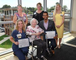 legendary caregiver certificate presented to doctor Krishna Mannava
