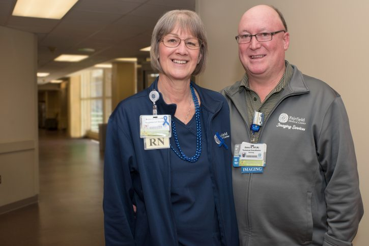 Colon cancer survivor with husband